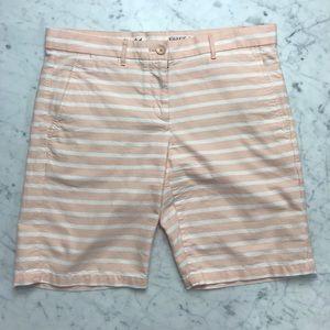 Gap Khakis Chinos Boyfriend Roll-Up Striped Shorts